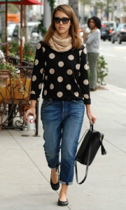 jessica polka dot sweater