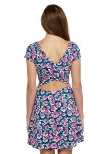 back floral cotton dress