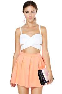 coral skirt nasty gal