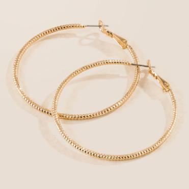 Draya Diamond Cut Hoop Earrings In Gold