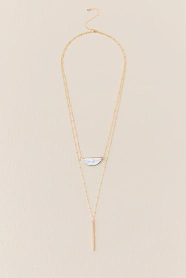 Xia Howlite Layered Necklace