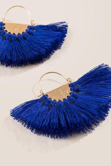 Janiah Tassel Fan Earrings
