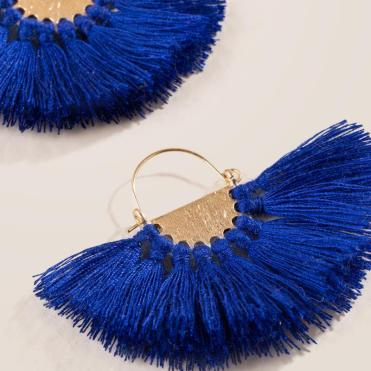 Janiah Tassel Fan Earrings