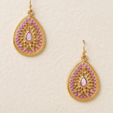 Gisele Pink Opal Teardrop Earrings